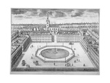 St James's Square from the South, London, 1754 Giclee Print by Sutton Nicholls