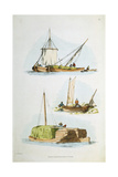Traditional Norfolk Boats, 1814 Giclee Print by William Henry Pyne