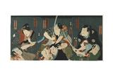 Theatre Scene, 1844 Giclee Print by Utagawa Kunisada