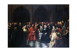 The Colloquy of Poissy in 1561, C1855-1912 Giclée-Druck von Tony Robert-fleury