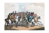 The Betting Post, Humours of Fox Hunting, 1799 Giclee Print by Thomas Rowlandson