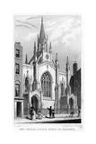 New Church, Little Queen Street, Holborn, London, 19th Century Giclee Print by Thomas Hosmer Shepherd