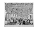 The Coffee Room in the London Bridge Railway Terminus Hotel, Bermondsey, London, 1860 Giclee Print by Vincent Brooks
