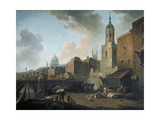 Fresh Wharf, Near London Bridge, C1762 Giclee Print by William Marlow