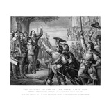 King Charles I (1600-164) Erecting His Standard at Nottingham, 25th August 1642 Giclee Print by Tim Bauer