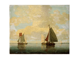 Sailing Boats, 17th Century Giclee Print by Willem Van De Velde The Younger