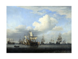 The Captured 'Swiftsure, 'Seven Oaks, 'Loyal George' and 'Convertine..., C1666 Giclee Print by Willem Van De Velde The Younger
