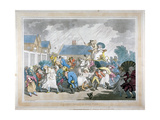 A Sudden Squall in Hyde Park, London, 1791 Giclee Print by Thomas Rowlandson
