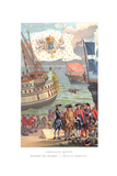 Royal Flag, Galleon Flag and Traders Flag Giclee Print by  Urrabieta