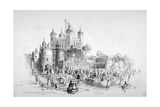 Lord Mayor Thomas Johnson and His Entourage Embarking from the Tower of London, 1840 Giclee Print by William Parrott