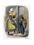 French Woman and Child Selling Fruit, 1809 Giclee Print by W Dickes