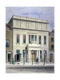 North Front of Princess's Theatre on Eastcastle Street, St Marylebone, London, C1830 Giclee Print by Thomas Hosmer Shepherd