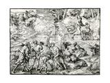 Abraham's Sacrifice, 1516-1518 Giclee Print by Ugo da Carpi