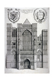 Westminster Abbey, London, C1650 Lámina giclée por Wenceslaus Hollar