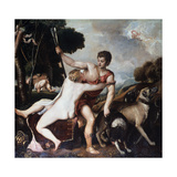 Venus and Adonis, 1553 Giclee Print by  Titian (Tiziano Vecelli)