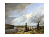 Shrimp Boys at Cromer, 1815 Giclee Print by William Collins