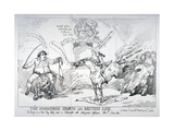 The Hanoverian Horse and British Lion, 1784 Giclee Print by Thomas Rowlandson