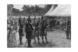 The Royal Tent at the Jubilee Garden Party, Buckingham Palace, London, Late 19th Century Giclee Print by Sydney Prior Hall