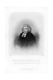 George Campbell, Scottish Enlightenment Philosopher Giclee Print by W Holl