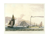 Steamboat on the Clyde Near Dumbarton, C1814 Giclee Print by William Daniell