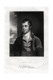 Robert Burns, Scottish Poet, 19th Century Giclee Print by W Holl