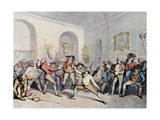 Mr H Angelo's Fencing Academy, 1791 Giclee Print by Thomas Rowlandson