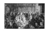 The Marriage of Princess Louise, 21 March 1871 Giclee Print by Sydney Prior Hall
