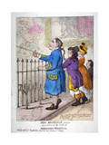 John Rosedale, Mariner, Exhibitor of the Hall of Greenwich Hospital, 1807 Giclee Print by Thomas Rowlandson