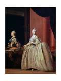 Empress Catherine II before the Mirror, 1779 Giclee Print by Vigilius Erichsen