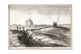 View of the Area around New River Head, Finsbury, London, 1665 Lámina giclée por Wenceslaus Hollar