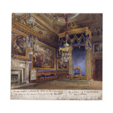Interior View of the King's Audience Chamber in Windsor Castle, Berkshire, 1818 Giclee Print by Thomas Sutherland
