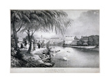 View of St James's Park and Buckingham Palace, Westminster, London, C1830 Giclee Print by Thomas Mann Baynes
