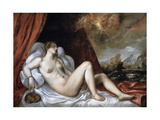 Danae, 16th Century Giclée-tryk af  Titian (Tiziano Vecelli)