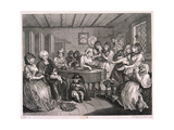 Her Funerall Properly Attended, Plate VI of the Harlot's Progress, 1732 Giclee Print by William Hogarth