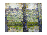 Orchard in Blossom with View of Arles, 1889 Giclee Print by Vincent van Gogh