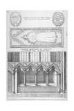 Tomb of Sir Ralph De Hengham in Old St Paul's Cathedral, City of London, 1656 Giclee Print by Wenceslaus Hollar