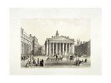 Royal Exchange and the Bank of England on the Left, London, 1851 Giclee Print by Thomas Picken