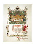 Menu of the Feast Meal to Celebrate the Coronation of Nicholas II and Alexandra Fyodorovna, 1896 Giclee Print by Viktor Mihajlovic Vasnecov