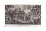 Human Sacrifice on Tahiti in the South Pacific, C1773 Giclee Print by W Woollett