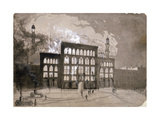 Fire at the Alhambra Theatre, Leicester Square, London, 1882 Giclee Print by William Dickes