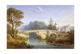 View of Eltham Bridge Near Eltham Palace, Woolwich, Greenwich, London, C1830 Giclee Print by William Crouch