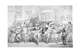 Ragged Musicians and Dancers, 1791 Giclee Print by Thomas Rowlandson