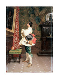 Before a Portrait',C1860-1920 Giclee Print by Tito Conti