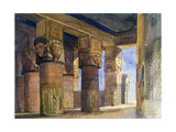 Temple of Denderah, Upper Egypt, 1839 Giclee Print by William James Muller