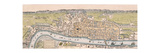 Map of London, C1563 Giclee Print by William Darton