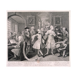 A Rake's Progress, 1735 Gicléedruk van William Hogarth