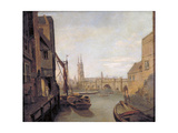 London Bridge from Pepper Alley Stairs, 1788 Giclee Print by William Marlow