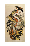 Male Actor Playing a Woman, C1704-C1711 Giclee Print by Torii Kiyonobu I
