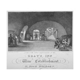 Gray's Inn Wine Establishment, High Holborn, London, 1840 Giclee Print by William Johnstone White
