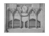 Monument in Old St Paul's Cathedral, City of London, 1656 Giclee Print by Wenceslaus Hollar